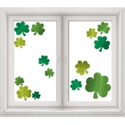 Glitter Shamrock Window Decorations - 45cm