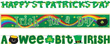 St Patrick's Day Value Banner Pack - 2.28m