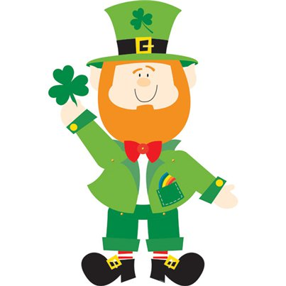 St Patrick's Day Leprechaun Jointed Cutout - 89cm