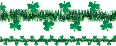 Shamrock Tinsel Garland - 4.5m