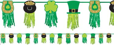 St Patricks Day Tissue Garland - 2.43m