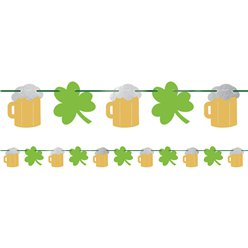 St Patrick's Day Beer and Shamrock Banner - 3.65m