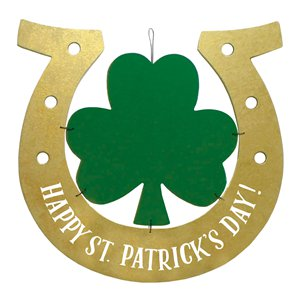 Happy St Patrick's Day MDF Hanging Sign - 39cm