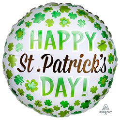 "Happy St. Patricks Day Balloon - 18"" Foil"