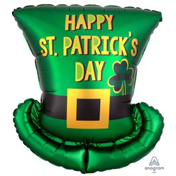 "St. Patricks Day Hat Balloon - 24"" Foil"