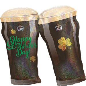 St Patrick's Day Beer Glasses SuperShape Balloon - 28