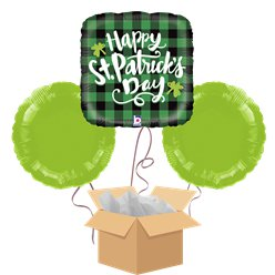 Happy St Patrick's Day Balloon Bouquet - Delivered Inflated