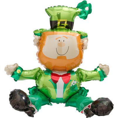 "St. Patrick's Day Sitting Leprechaun Balloon - 22"" Foil"