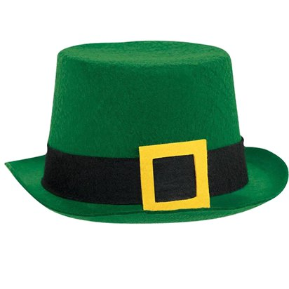 Leprechaun Irish Top Hat - St Patrick's Day Hat - Adult One Size front
