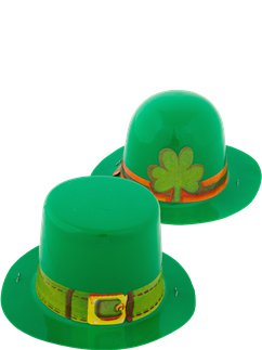 St Patrick's Day Mini Plastic Leprechaun Hat