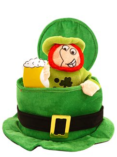 Top Hat with Drinking Leprechaun