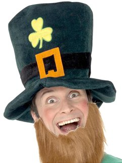 St Patrick's Day Leprechaun Foam Hat with Beard