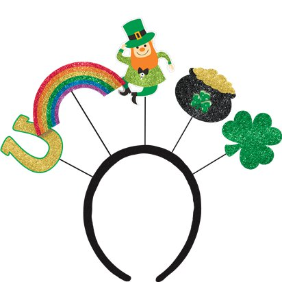 St Patrick's Day Over the Rainbow Headboppers - 26cm - St. Patrick's Day Hat front