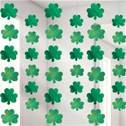 St Patrick's Day Shamrock Hanging Strings - 2.1m