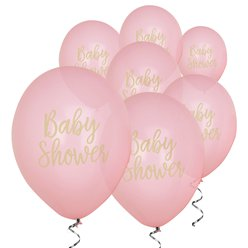 "Pattern Works Pink Baby Shower Balloon - 12"" Latex"