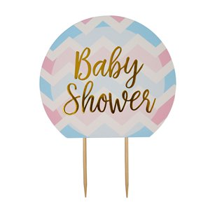 Pattern Works Baby Shower Cake Topper