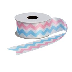 Pattern Works Pink & Blue Printed Ribbon - 2.5m