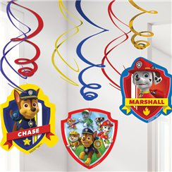 Paw Patrol Hanging Decorations - 60cm Hanging Swirls