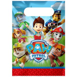 Paw Patrol Party Bags - Plastic Party Bags
