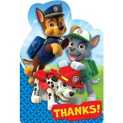 Paw Patrol Party Thank You Cards