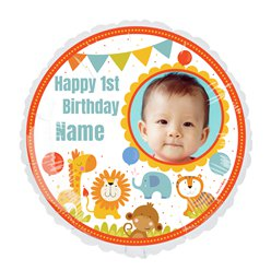 1st Birthday 22.5 inches Personalised Balloon