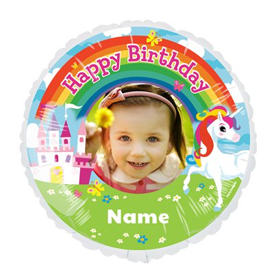 Unicorn 22.5 inches Personalised Balloon