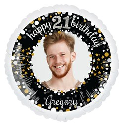 Sparkling Celebration 21st Personalised Balloons - 22.5 Foil