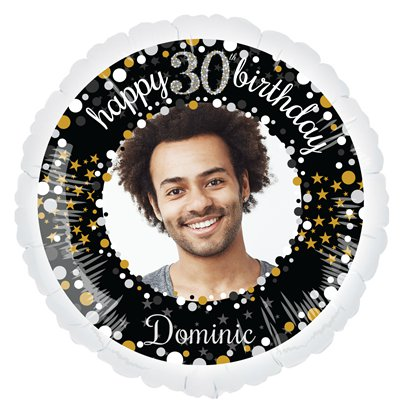 Sparkling Celebration 30th Personalised Balloons - 22.5 Foil