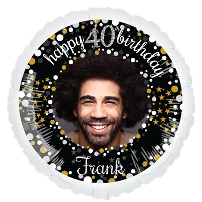 Sparkling Celebration 40th Personalised Balloons - 22.5 Foil