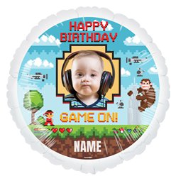 "Game On Personalised Balloon - 22.5"" Foil"