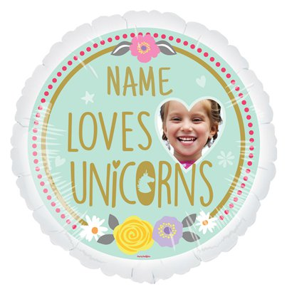 "Magical Unicorn Personalised Balloon - 22.5"" Foil"