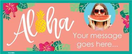 Aloha Summer Custom Banner - 6ft x 2.5ft