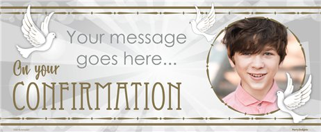 Confirmation Dove Custom Banner - 6ft x 2.5ft