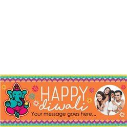 Diwali Custom Banner - 2.5ft x 1.1ft