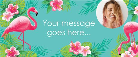Flamingo Paradise Custom Banner - 6ft x 2.5ft