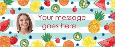 Tropical Fruit Custom Banner - 6ft x 2.5ft