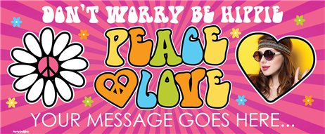 Hippie Party Custom Banner - 6ft x 2.5ft