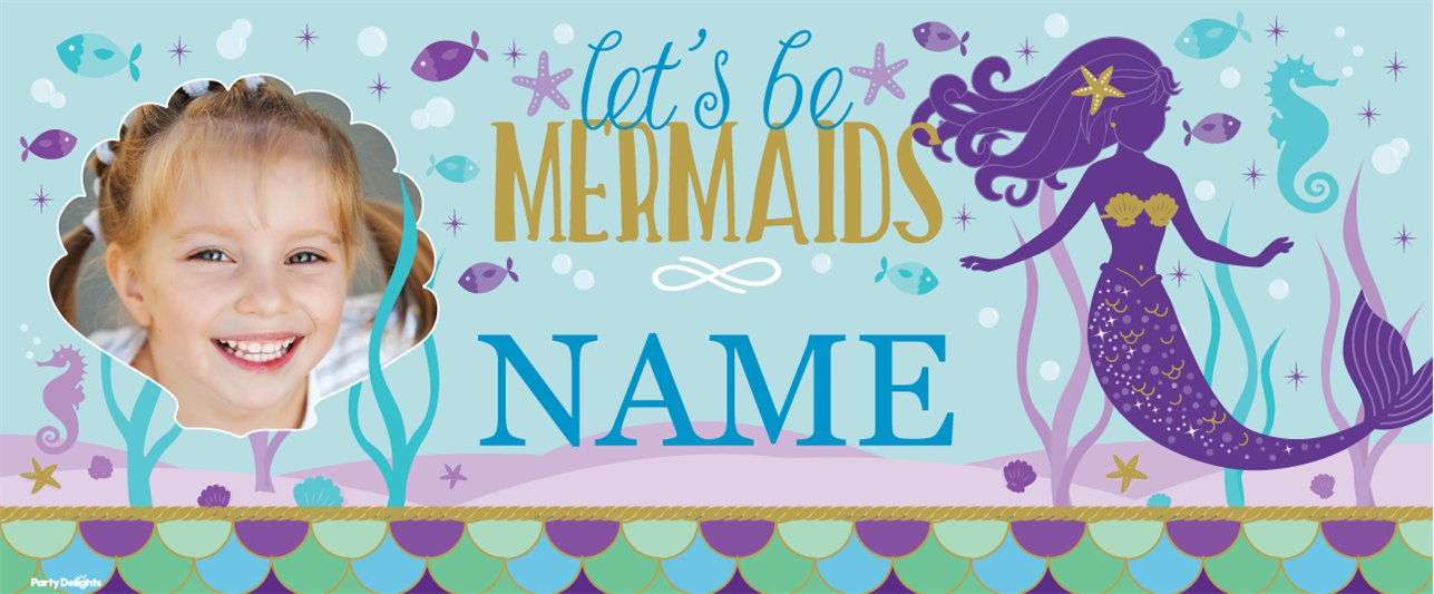 Mermaid Wishes Custom Banner 6ft x 2.5ft