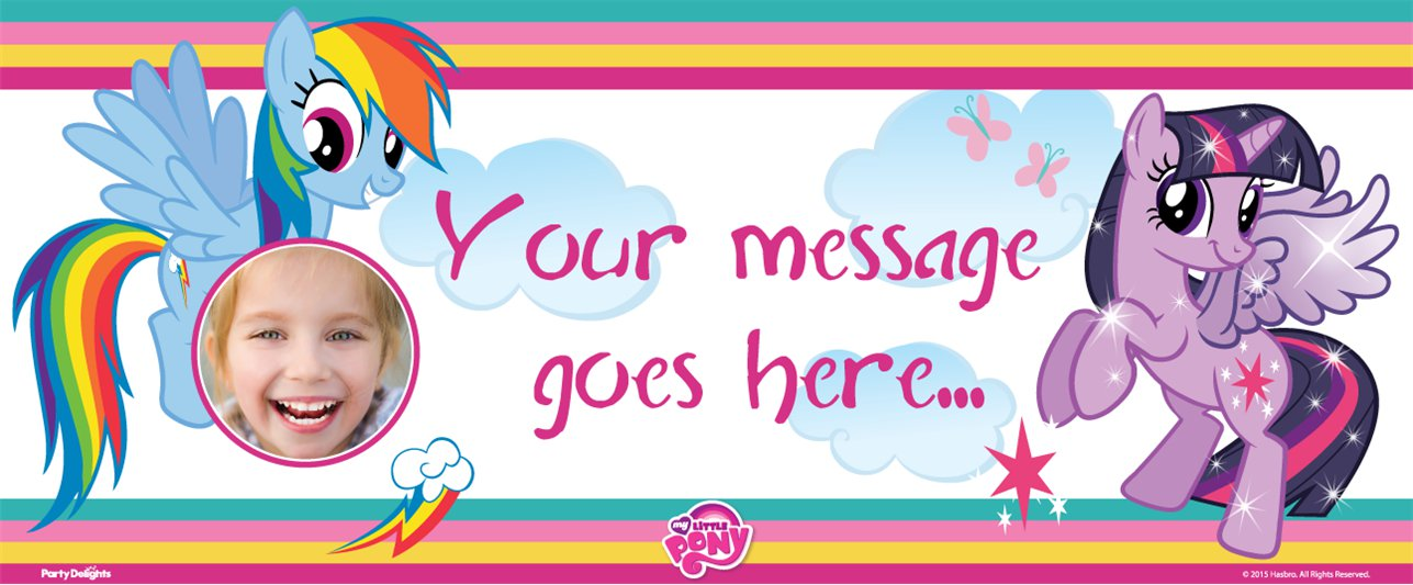 My Little Pony Custom Banner 6ft. x 2.5ft.