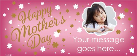 Mother's Day Custom Banner 2.5ft x 1ft.