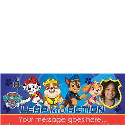 Paw Patrol Personalised Banner - 2.5ft x 1ft