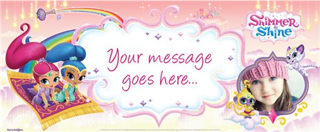 Shimmer & Shine Personalised Banner - 6ft x 2.5ft