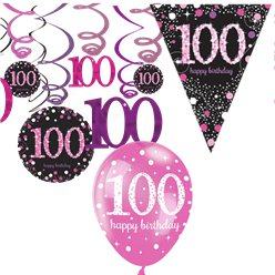 100th Pink Celebration Decorating Kit - Value