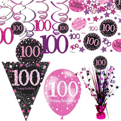 100th Pink Celebration Decorating Kit - Deluxe