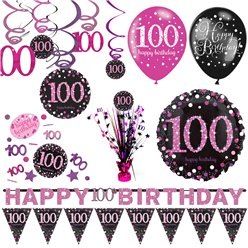 100th Pink Celebration Decorating Kits - Premium