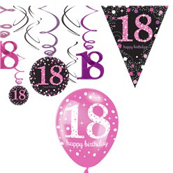18th Pink Celebration Decorating Kit - Value