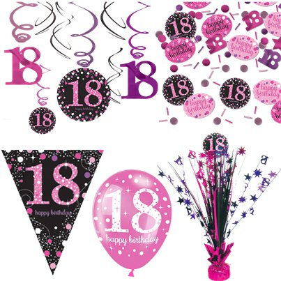 18th Pink Celebration Decorating Kit - Deluxe