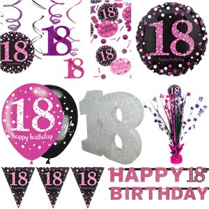 18th Pink Celebration Decorating Kit - Premium