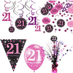 21st Pink Celebration Decorating Kit - Deluxe
