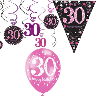 30th Pink Celebration Decorating Kit - Value